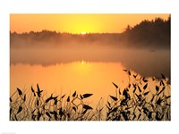 Sunrise over a lake - various sizes