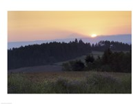 Panoramic view of a sunrise, Oregon, USA Fine Art Print
