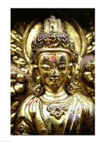 Close-up of a statue, Kathmandu, Nepal Fine Art Print