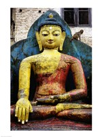 Statue of Buddha, Kathmandu, Nepal - various sizes, FulcrumGallery.com brand