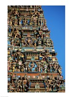 Carvings on a temple, Sri Meenakshi Hindu Temple, Chennai, Tamil Nadu, India - various sizes