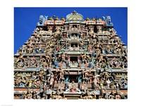 Carving on Sri Meenakshi Hindu Temple, Chennai, India - various sizes