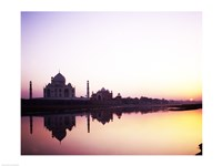 Silhouette of the Taj Mahal, Agra, Uttar Pradesh, India Framed Print