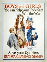 Help Uncle Sam Win the War - various sizes