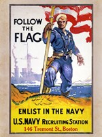 Follow the Flag - various sizes, FulcrumGallery.com brand
