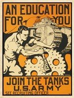 Join the Tanks US Army Fine Art Print
