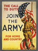 The Call to Duty for Home and Country Fine Art Print