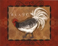 Rooster Blanc Fine Art Print