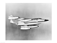 Low angle view of a fighter plane in flight, B-58 Hustler - various sizes