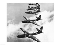 High angle view of fighter planes in flight, Mcdonnell FH-1 Phantom - various sizes - $29.99