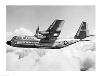 Military airplane in flight - various sizes