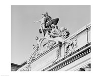 USA, New York State, New York City, Grand Central Clock, low angle view - various sizes