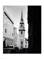Low angle view of a clock tower, Boston, Massachusetts, USA Fine Art Print