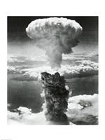 Mushroom cloud formed by atomic bomb explosion, Nagasaki, Japan, August 9, 1945 Fine Art Print