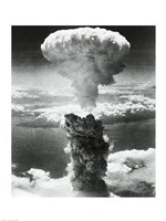 Mushroom cloud formed by atomic bomb explosion, Nagasaki, Japan, August 9, 1945 Fine Art Print