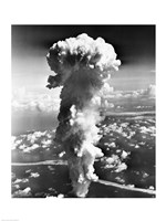 Clouds formed by an atomic explosion Fine Art Print
