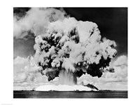 Atomic bomb explosion, Bikini Atoll, Marshall Islands, July 24, 1946 Fine Art Print