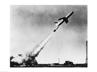 Low angle view of a missile taking off, Martin TM-61B Matador Fine Art Print