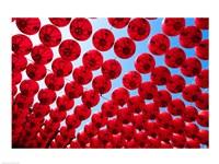 Taiwan,Kaohsiung,Cijin Island,Chinese Lanterns at Tianhou Temple Fine Art Print