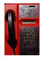 Close-up of a pay phone Fine Art Print