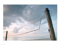 Volleyball net on the beach Fine Art Print