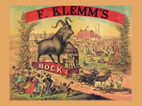 F. Klems Bock Beer Fine Art Print