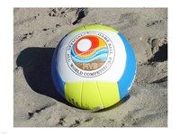 Beach Volleyball Ball Fine Art Print