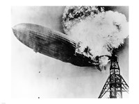 Hindenburg Burning Framed Print