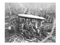 USS Los Angeles Airship Over Manhattan Fine Art Print