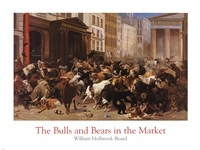 The Bulls and Bears in the Market Fine Art Print