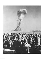 Atomic Bomb Testing in a Desert, Camp Desert Rock, Las Vegas, Nevada, USA Fine Art Print