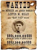 Baby Face Nelso Wanted Poster - various sizes, FulcrumGallery.com brand