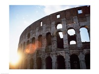 Low angle view of the old ruins of an amphitheater, Colosseum, Rome, Italy - various sizes
