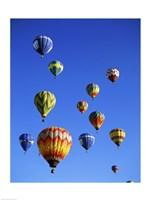 Hot air balloons rising, Albuquerque International Balloon Fiesta - various sizes