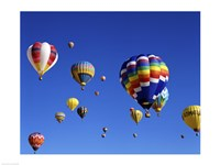 Hot Air Balloons Floating Away Fine Art Print