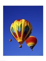 Three Rainbow Hot Air Balloons Fine Art Print