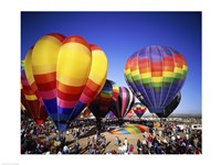 Hot air balloons at the Albuquerque International Balloon Fiesta, Albuquerque, New Mexico, USA Fine Art Print