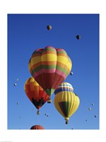 Hot air balloons at the Albuquerque International Balloon Fiesta, Albuquerque, New Mexico, USA Launch Fine Art Print