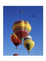 Hot air balloons at the Albuquerque International Balloon Fiesta, Albuquerque, New Mexico, USA Launch - various sizes
