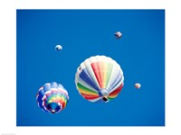Rainbow Hot Air Balloons as Seen from Below - various sizes