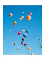 Tons of Hot Air Balloons Flying - various sizes