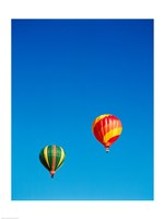 Green and Red Hot Air Balloons Taking Off - various sizes