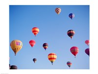 Hot Air Balloons in a Faded Sky - various sizes