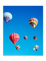 Low Angle View of Hot Air Balloons - various sizes