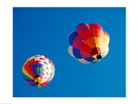 Two Hot Air Balloons Flying Away - various sizes