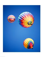 Three Hot Air Balloons from Below - various sizes