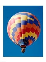 Low angle view of a hot air balloon in Albuquerque, New Mexico, USA - various sizes