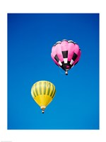 A Pink and a Yellow Hot Air Balloon - various sizes