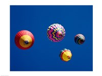 Four Hot Air Balloons from Below - various sizes