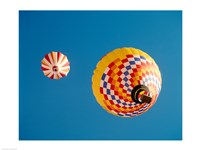 View of Hot Air Balloons from Below - various sizes